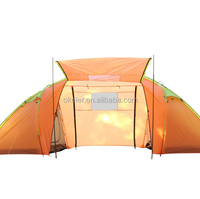 Manufacturers selling new style big two rooms one hall outdoor camping tent for 4 to 6 people