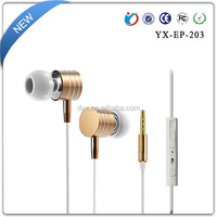 Promotional Sport earphone in-ear wired metal headset with mic purchase in china for particular