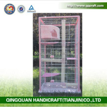 QQ Pet Factory Wholesale Metal Stainless Steel Cat Cage & Portable Storage Pet Breeding Cage