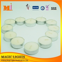 Aluminium cups scented white color tealight candle