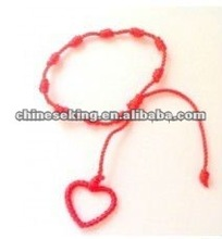 fashion heart decenarios bracelet new design string knot decenarios bracelets