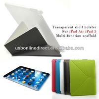 Multi-function pink case for ipad air leather case cover for ipad 5 protection