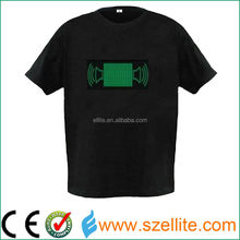 make you own logo custom led light t shirt
