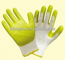 7G rubber palm work knit gloves