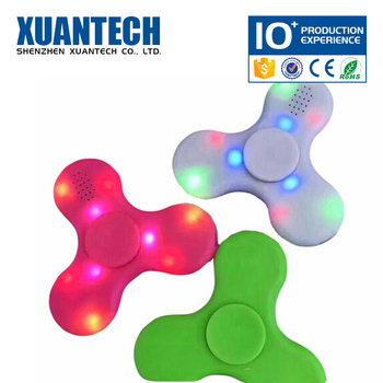 Hot Sale bluetooth and rechargeable mini toy, game spinner, light hand spinner