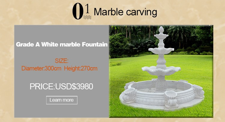 Outdoor marble planter with angel for decor