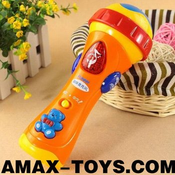 bte-63983831 Toys cartoon microphone Infant multifunctional microphone with music and light