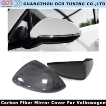 For Volkswagen VW Golf 7 Carbon Fiber Rear View Mirror Add On With Double Sided Tape