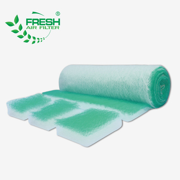 Foshan Industry paint booth home kitchen floor filter fiberglass air filter media roll for spray booth