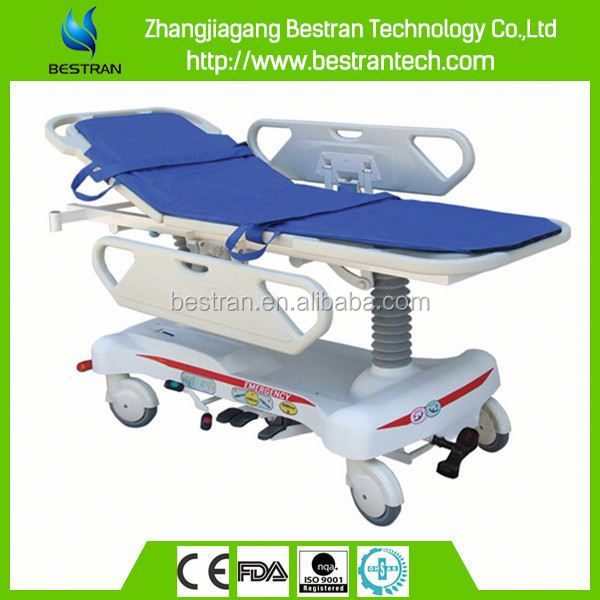 BT-TR008 hydraulic foot operated cheap medical stretcher bed prices