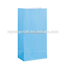 folded unique rainbow color gift paper bag made in China
