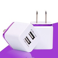 New style dual usb phone charger wall charger home charger for electronic products