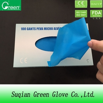 Colored disposable hdpe gloves