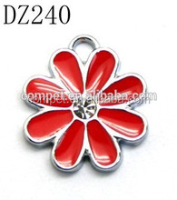 Popular zinc alloy flower Jewelry pendant charms