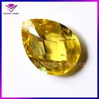 Yellow topaz KY105 gemstone prices 6*8mm Pear Cut Gemstones Glass gems Crystals stones