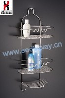 2016 Fashion 3 Tier Wire Hanging Corner Bathroom Shelf For Home