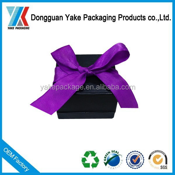 The wonderful design of ring box,good quality ring box with ribbon!