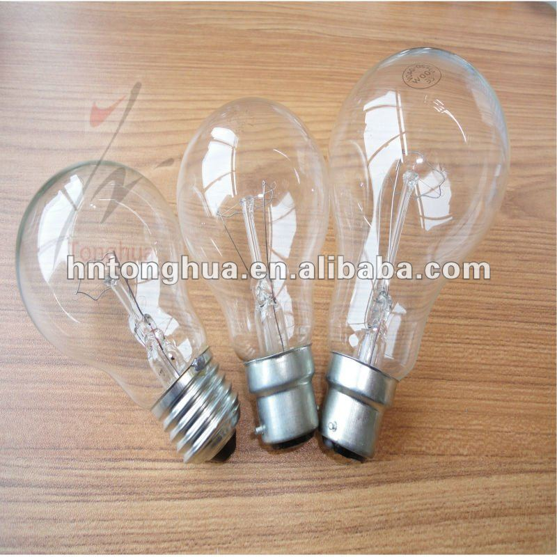 Clear incandescent lamps 100W E27&B22