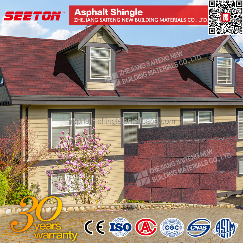 Venice Red Modular House Roof tiles price Asphalt decorative shingles