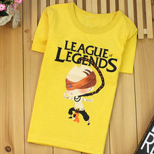 short sleeve 100%cotton LOL children tshirt League of Legends top boy t-shirts kids shorts boy shirts wholesale