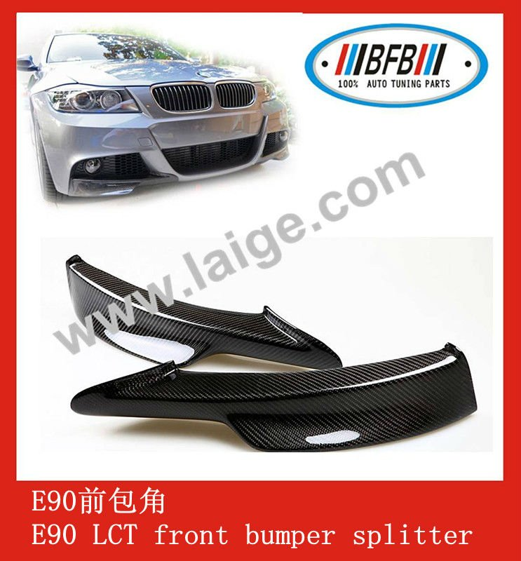 CARBON FRONT LIP SPOILER CARBON SPLITTER for BMW E90-LCI style