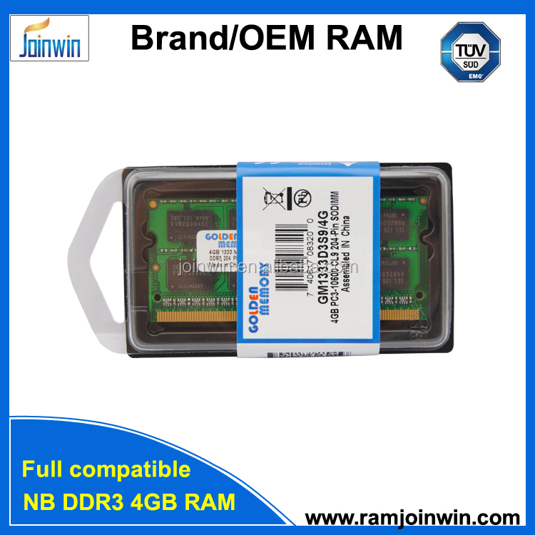 sodimm ram ddr3 pc10600 1333 4gb in retail packing