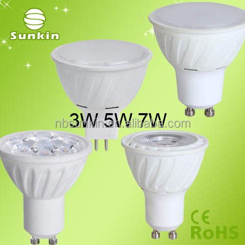 led spot light PF0.6 CE rohs Dimming 220V 4W 6W 7W SMD GU10 Energy Saving Warm White Led Spotlight