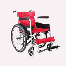 24 inch pneumatic tire manual common wheelchair with steel spraying frame