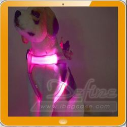 New arrival light up LED dog vest harness