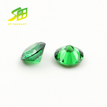 Charming Emerald Green Round Shape synthetic CZ Stone for Pendant