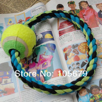 W106 Pet O cotton rope with single ball Molar teeth cleaning cotton rope diameter is 18 CM 1pc/Lot Drop Shipping