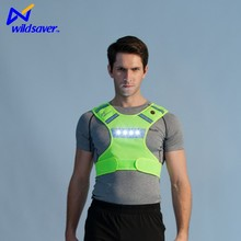 China supplier LED safety new design glowing warning vest women men
