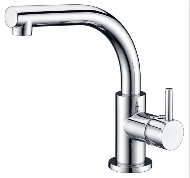 Deck mounted single hole lav faucet/basin faucet with brass handle and pop-up