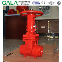 Gate Valve Ductile Iron Fire Protection, Resilient Wedge, Flanged