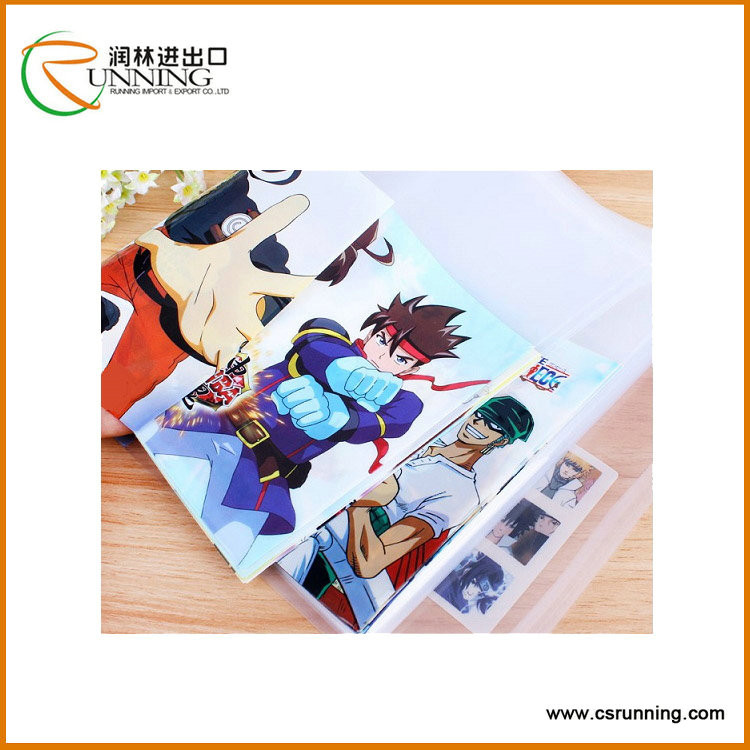 Wholesale Custom printed transparent waterproof plastic pvc book cover