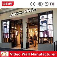4x4 video wall bracket LG 4.9mm seamless lcd tv wall for store adversing