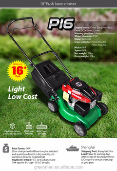 16inch push gasoline lawn mower with Zongshen engine at low price
