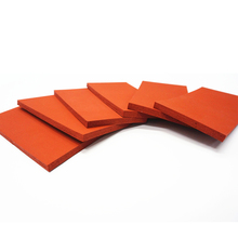 Wholesale Customized High Quality Red Silicone Vulcanized Rubber Foam Sheet