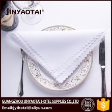 jacquard hot sale hand hemstitch linen napkins with embroidery