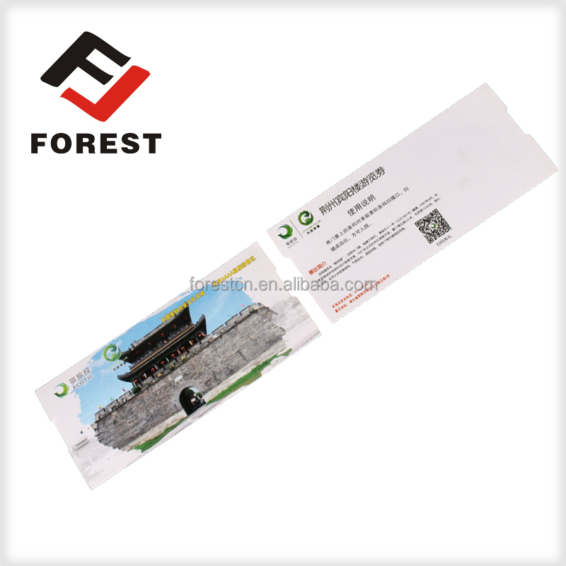 Cheapest 500pcs/bundle art paper customized paper ticket