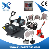 CE Approval heat transfer machine combo press, embossing machine heat press, t-shirt printing machine
