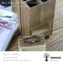 HONGDAO Paulownia wood pen boxes with gum flocking liner