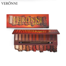 Popular Cosmetic! VERONNI 12 Color Molten Rock Heat Eyeshadow Palette Maquillaje Proveedores De China Eye Shadow Palettes Makeup