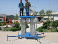 12m hotel glass washing man lift, aluminum alloy lift table