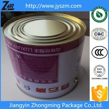 20 litre/liter tin/tinplate container with lid and handle