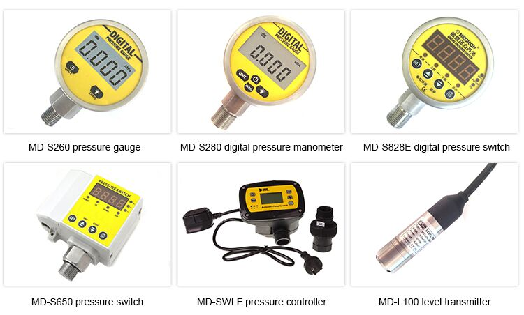 MD-S210 digital hydraulic vacuum pressure gauge precision with temperature