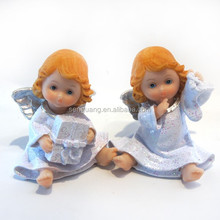 polyresin gift angel finger with gift box,gift angel girl finger with a shoe