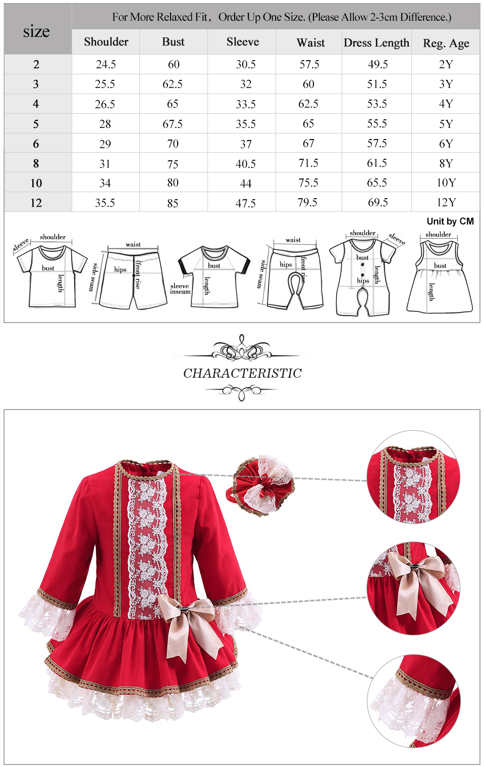 Pettigirl Autumn Red hoodie Boutique Cotton new model Flower Girls Dress With Hair Accessories