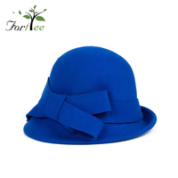 Wholesale hats supplier felt vintage wide brim lady winter fashion warm hat cap