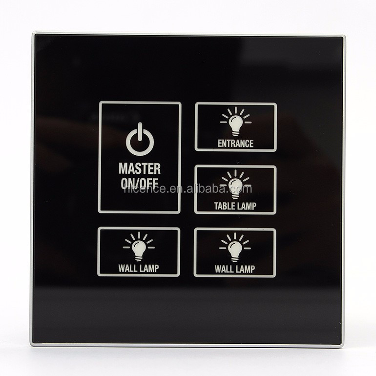 Luxury Tempered Glass Hotel Smart Room Solution with Touch Panel